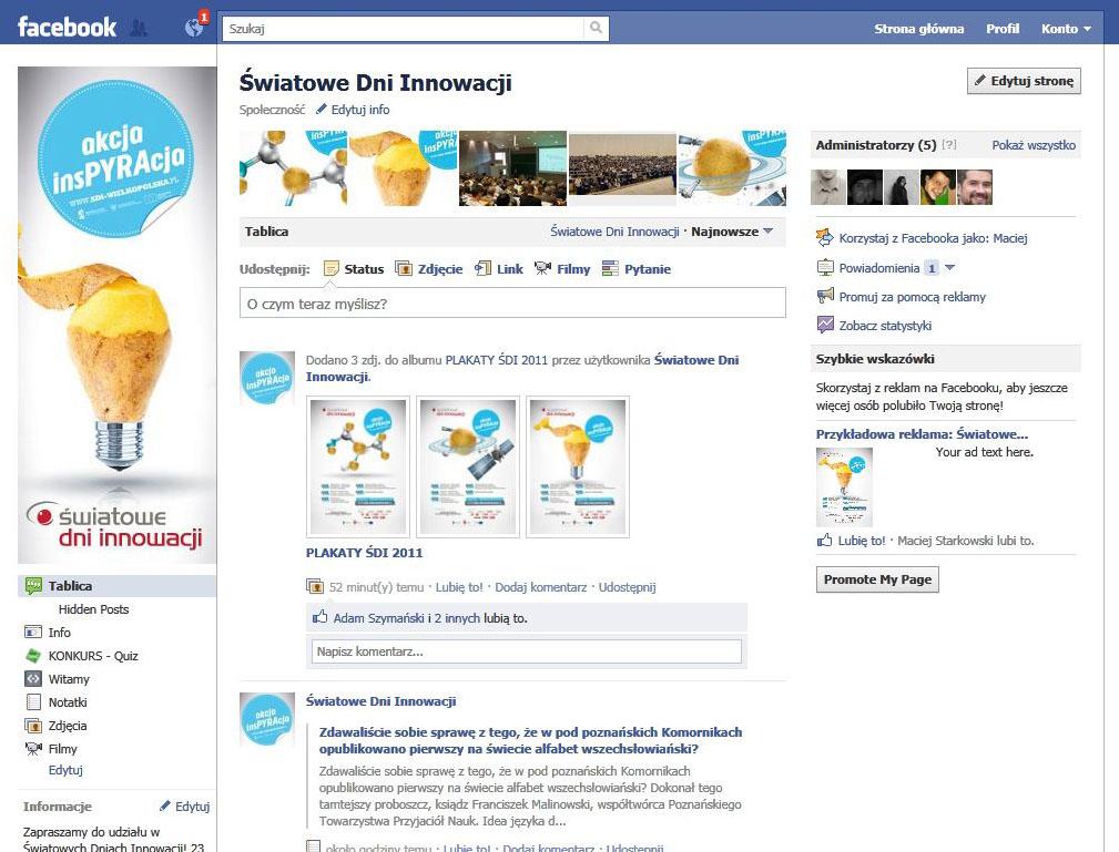 Facebook sdi FB tablica
