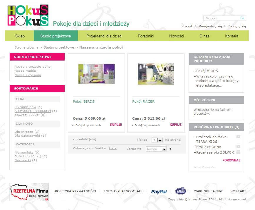 strona www hokus pokus studio projektowe ParkyPat
